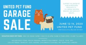 United Pet Fund Garage Sale @ United Pet Fund Resource Center